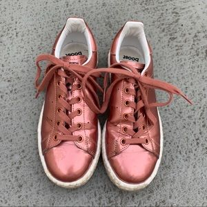 Adidas rose gold boost sneakers
